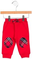 Junior Gaultier Boys' Plaid-Accented Sweatpants w/ Tags
