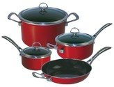 Chantal Copper Fusion 7 Piece Cookware Set - Red