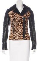 A.L.C. Leopard Print Ponyhair Jacket