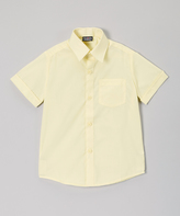 Beverly Hills Polo Club Yellow Button-Up - Boys