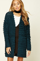 Forever 21 FOREVER 21+ Loop Knit Open-Front Cardigan