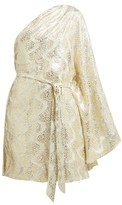 Melissa Odabash Look 13 Metallic Mini One Shoulder Dress - Womens - Gold