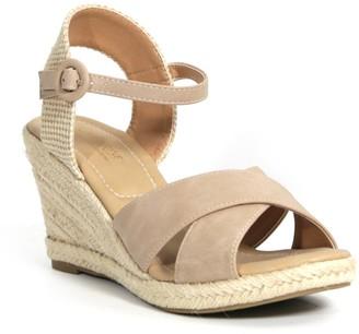 Catherine Malandrino Endy Ankle Strap Espadrille Wedge Sandal