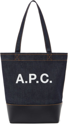 A.P.C. Navy Small Axelle Tote