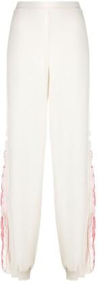 Stella McCartney Cotton Track Pants With Logo Stripe Down Legs
