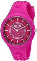 Versus By Versace Women's SOQ030015 Fire Island Quartz Watch With Pink Band