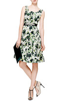 Oscar de la Renta Sleeveless Full Pleated Dress