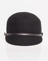 Le Château Military Felt & Leather-Like Hat