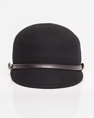 Le Château Military Felt & Faux Leather Hat