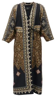 Etro Campeiro Wool-blend Brocade Coat - Black Gold