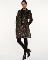 Le Château Wool Blend Animal Print Coat