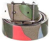 Valentino Camouflage Leather Belt