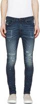 Diesel Blue Distressed Spencer-Ne Jogg Jeans