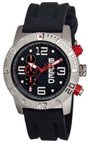 Breed Men's Grand Prix Watch with Silicone Strap