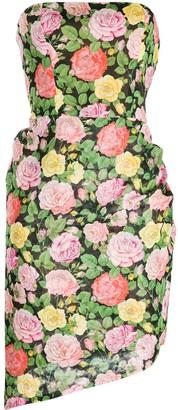 1980's Strapless Asymmetric Dress