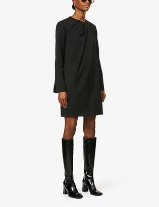 Victoria Victoria Beckham Draped-neck woven mini dress