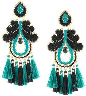 Mercedes Salazar woven tassel drop earrings