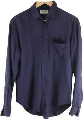 Saint Laurent Navy Viscose Shirts