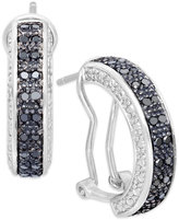 Black Diamond Victoria Townsend Hoop Earrings in Sterling Silver (1/2 ct. t.w.)