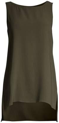 Eileen Fisher Silk Step-Hem Sleeveless Top
