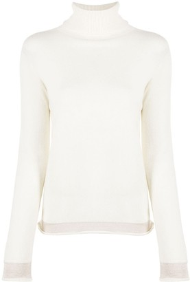 Liu Jo Contrast-Trimmed Roll Neck Jumper