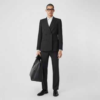 Burberry English Fit Pinstriped Wool Double-breasted Suit