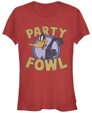 Fifth Sun Looney Tunes Daffy Duck Party Fowl Women's Short Sleeve T-Shirt