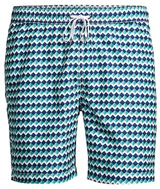Onia Charles Geometric Swim Shorts