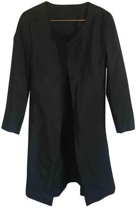 Prada Black Silk Trench Coat for Women