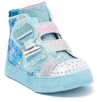 Skechers Shuffle Lite Let It Sparkle Mid Light-Up Sneaker (Toddler)