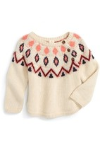 Infant Girl's Tucker + Tate Geometric Pattern Sweater