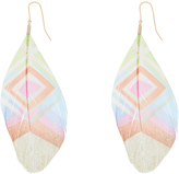 Accessorize Patterned Feather Earrings