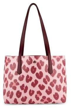 Kate Spade Molly Leopard-Print Small Tote