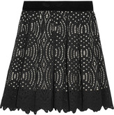 Just Cavalli Corded lace mini skirt