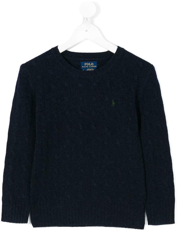 Ralph Lauren Kids round neck sweater