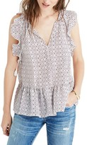 Madewell Women's Lily Ruffle Silk Blouse