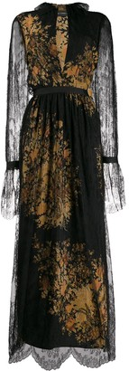 Etro belted lace dress