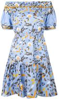 Peter Pilotto printed off-the-shoulder dress - women - Cotton/Polyester/Spandex/Elastane - 10