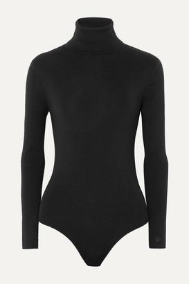 LOULOU STUDIO Galora Wool-blend Turtleneck Bodysuit - Black