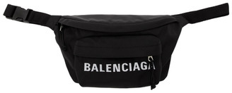 Balenciaga Black Logo Sport Belt Bag