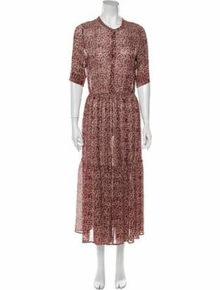 Ulla Johnson Silk Long Dress Red