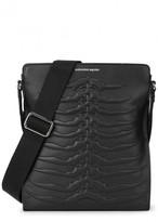 Alexander Mcqueen Black Ribcage Leather Shoulder Bag