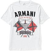 Armani Exchange Sailing Crew Neck Short-Sleeve Graphic Tee