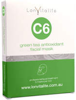 Lonvitalite C6 Green Tea Antioxidant Facial Mask 5Pk