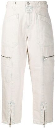 Closed Cropped Tapered Trousers