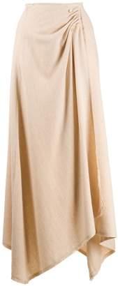Nanushka Rupi draped midi skirt