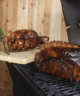 Charcoal Companion Nonstick Reversible Roasting & Rib Rack