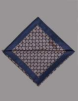 Autograph Pure Silk Geometric Print Pocket Square