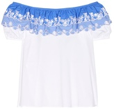 Peter Pilotto Embroidered Off-the-shoulder Top