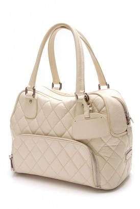 Chanel White Leather Travel bags